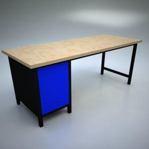 stół warsztatowy niebieski